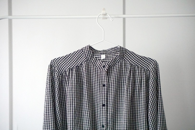 黑白格子襯衫|秋冬的細格紋襯衫穿搭