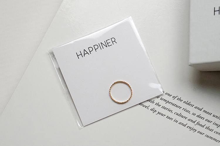 HAPPINER 現代簡約手工飾品|項鍊尾戒三款分享