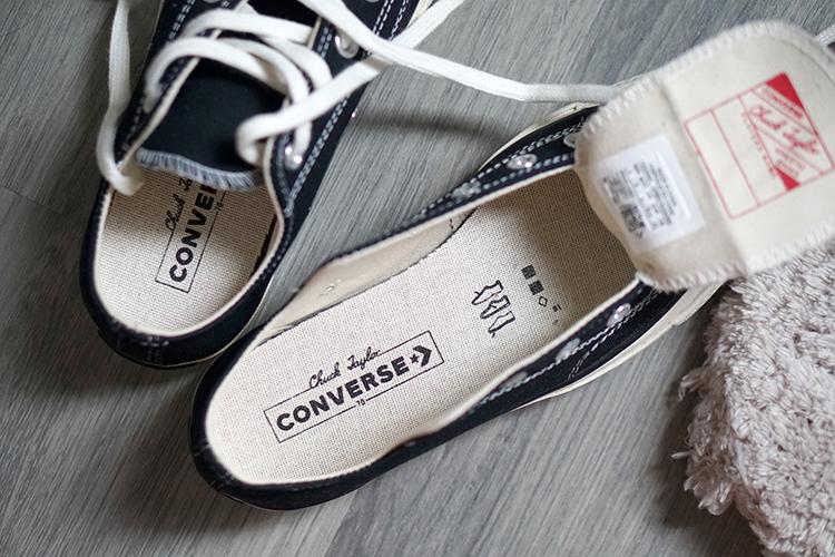 CONVERSE 1970 黑色帆布鞋|高筒低筒穿搭尺寸心得分享