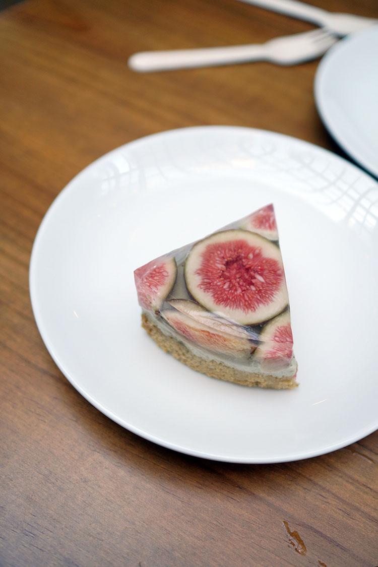 Cypress & Chestnut 蛋糕外帶|無花果焙茶果凍蛋糕&洋梨白蘭地蛋糕