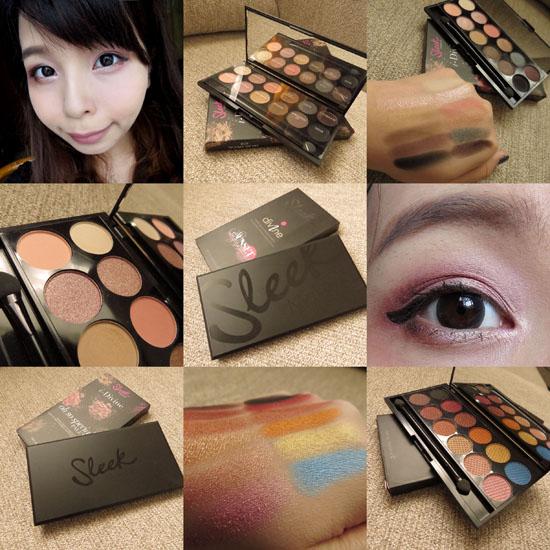::彩妝::sleek makeup oh so special 658 & Sunset 568 礦物眼影盒試色 @Jujuxii's Blog