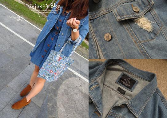 ::購物::Pazzo秋天專屬的長版刷破牛仔外套購物小分享 @Jujuxii's Blog