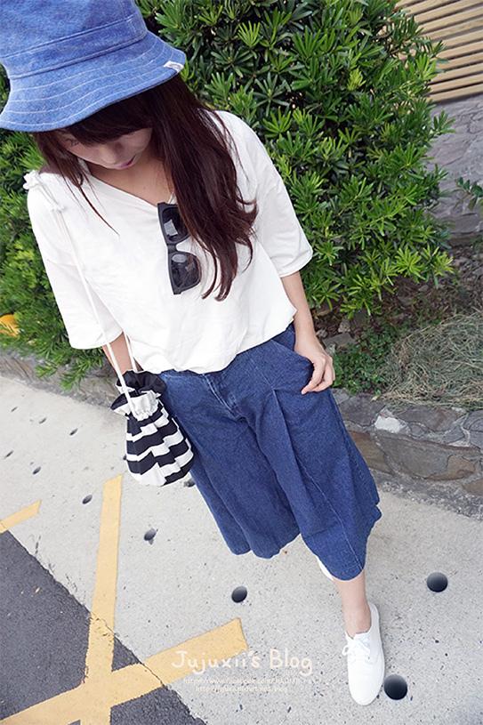 ::穿搭::夏日休閒單寧 藍x白 釣魚穿搭日記♥ @Jujuxii's Blog