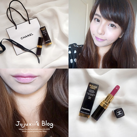 ::彩妝::CHANEL COCO唇膏 #454 JEAN 柔和清新的莓紫色♥ @Jujuxii's Blog