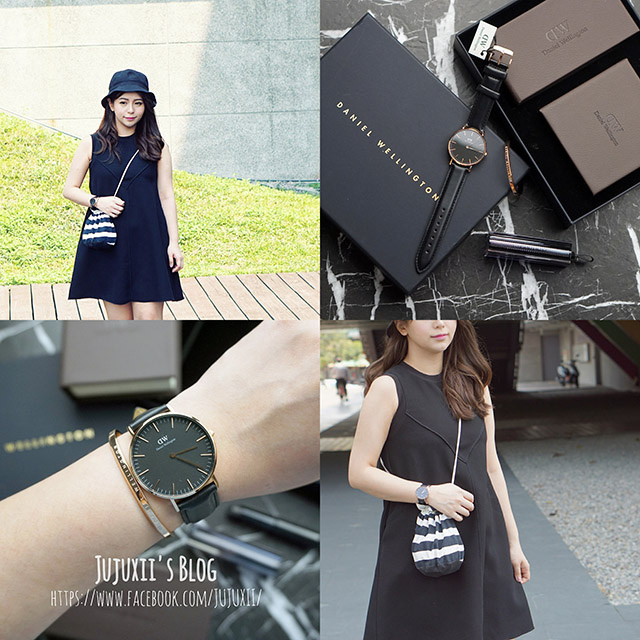 DW錶(官網優惠券代碼JUJUXII)-清新感的早春穿搭CLASSIC BLACK手錶穿搭- Daniel Wellington @Jujuxii's Blog